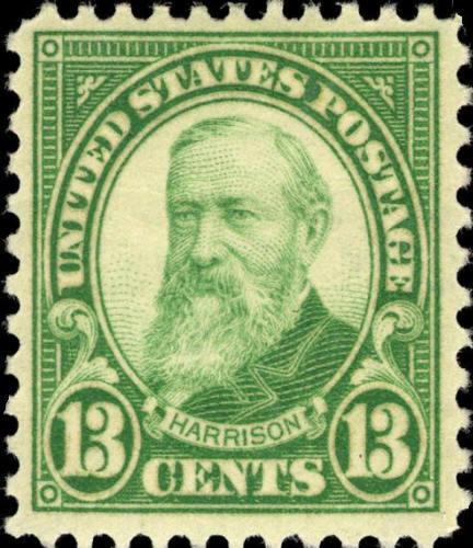 1931 13c William Harrison, Yellow Green Scott 694 Mint
