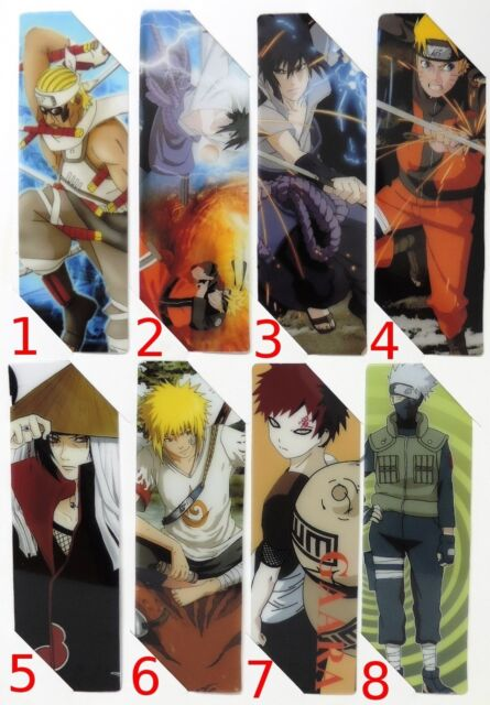 #LES016 - Naruto Shippuuden - Lesezeichen - Bookmark - Auswahl aus 8 Motiven