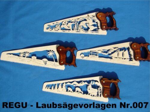 REGU - Laubsägevorlagen Nr.007 /K  für Fuchsschwanz Sägen - sechs versch. Motive