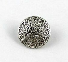 60PCS Tibetan silver round fligree button beads FC15354