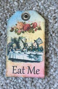 8 mini Alice nel paese delle meraviglie etichette vintage mangiarmi Compleanno Tea Party Decorazioni  </span>