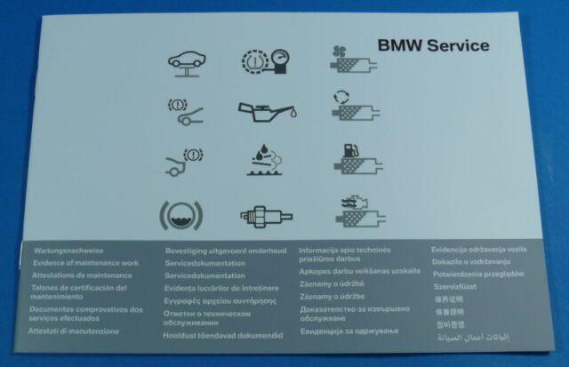 Original Bmw Cuaderno de mantenimiento Inspección BMW Serie 5 F07/F10/F11