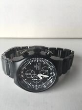 Montres De Luxe Milano Men's Type 12 Black All-Aluminum Chrono watch NEW