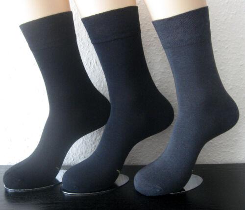 3 Paar Damen Bambus Socken weicher Softrand ohne Gummi schwarz blau grau 35-42