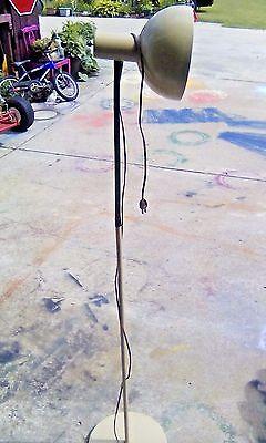 Vtg Mid-Century Modern / Art Deco Old Gooseneck Floor Lamp FAIRLESS STEEL WORKS