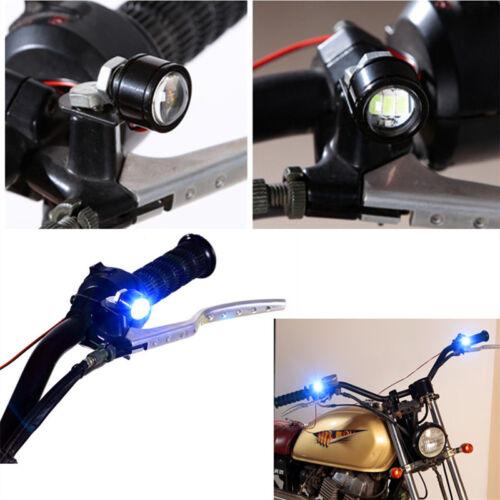 2 Pcs LED Motorcycle Headlight Spotlight Driving Daytime Running Light Lamp Blue
