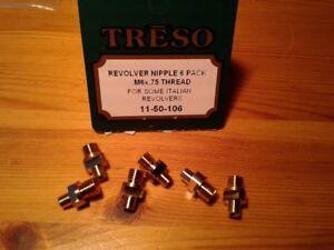 Treso-Ampco-Nipples-Italian-revolvers-set-Nipples-6x-75mm-threads-11-50-106