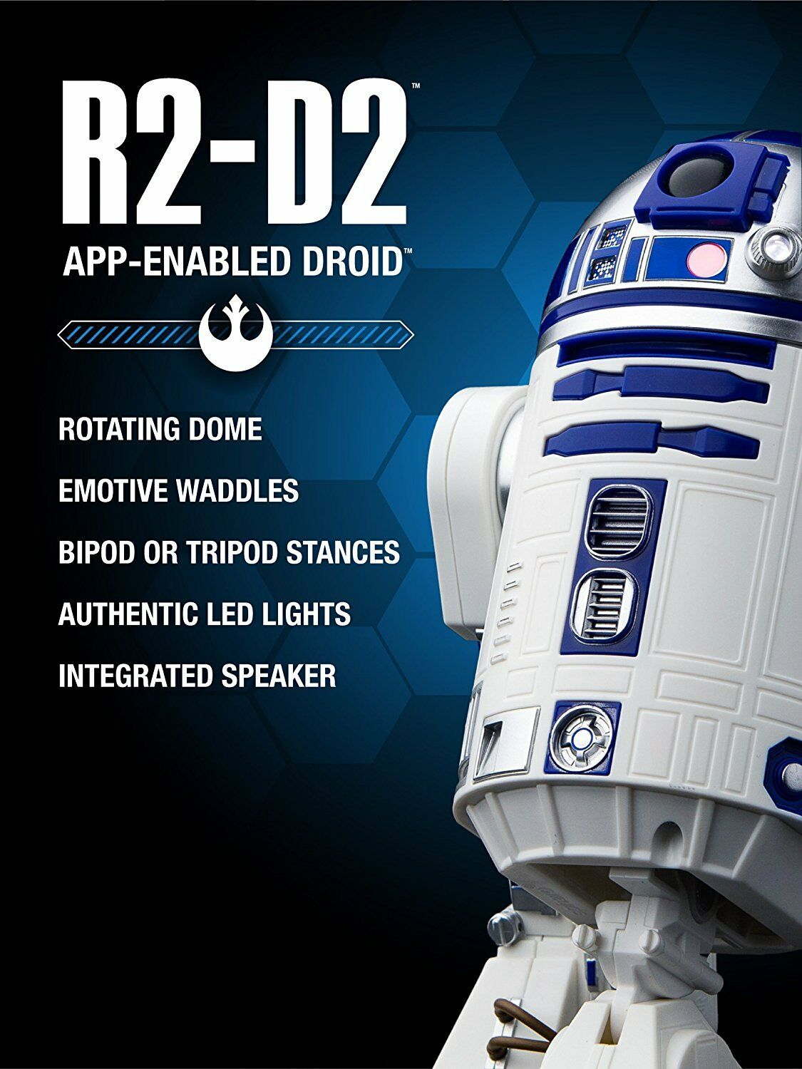 Star Wars R2-D2 App-Enabled Droid by Sphero autentico Movement Serie 2017