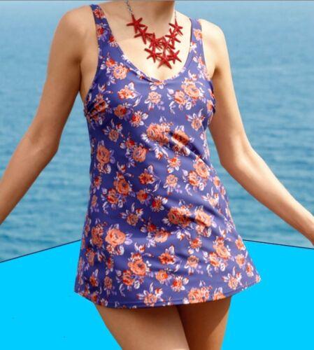 Costume da bagno in abito-Optik LILLA-Albicocca-Marine abito balneare 44 46 52 54 Coppa B Nuovo