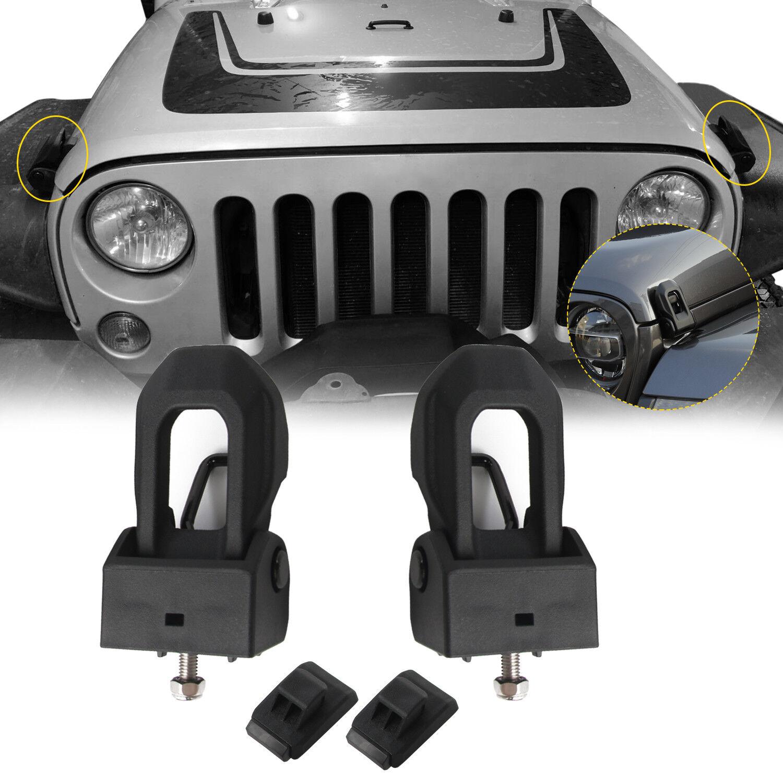 cciyu Black Stainless Steel Latch Locking Hood Catch Fits for 2007 2008 2009 2010 2011 2012 2013 2014 2015 2016 2017 2018 Jeep Wrangler JK JKU