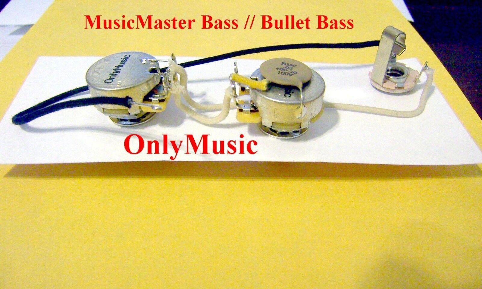 Kompatibel Fender Musicmaster Bass Repro Klassischer Kabelbaum