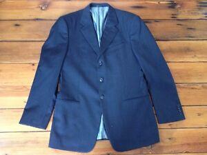 Armani-Collezioni-Saks-Fifth-Ave-Black-Mens-Suit-Jacket-Blazer-100-Wool-43L-45-034