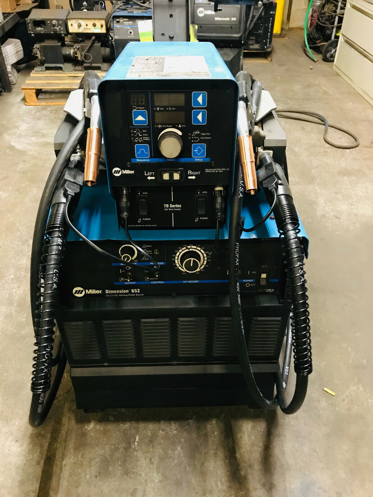 Miller Dimension 652 MIG Welder Dual WIre Feeder. Buy it now for 4995.00