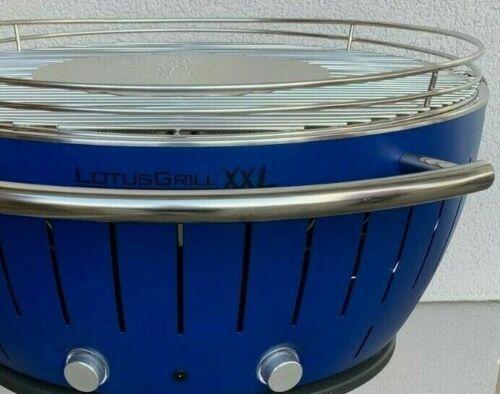 Grillwagen und Zubehör-Set wie neu inkl LotusGrill XXL Holzkohlegrill blau