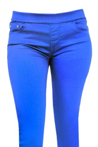 Womns Ladies Coloured Jeans Elasticated Waist Trousers Slim Fit  Skinny Jeggings