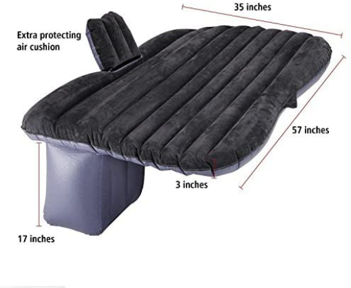 Sleep Camping Travel Wakects Inflatable Car Bed Rear Seat Inflatable Mattress with Pump Multifunctional Folding for Rest