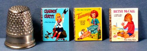 Dollhouse Miniature 1:12 Six Little Golden Books  Doll Covers    girl toy books