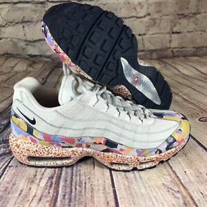 Details about Nike Women Air Max 95 SE Confetti Vast Grey Habanero Red Navy 918413 004
