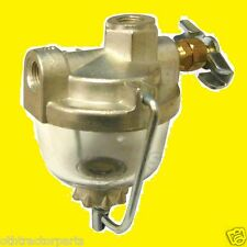 """Universal Fuel Gas Sediment Glass Bowl Assembly 1/8"""" Pipe Inlet & Outlet 69221"""