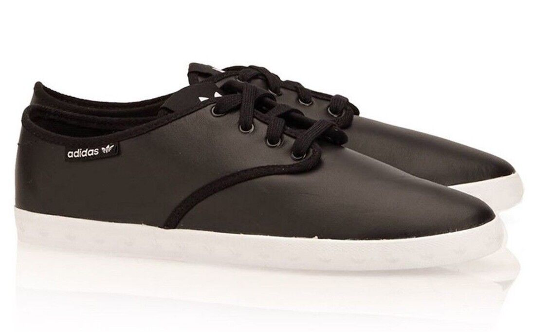 Adidas Originals Adria Plimsole Womens Trainers Black Leather Lace M20740 SHOES