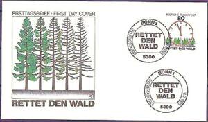 Frg-1985-Save-The-Forest-FDC-No-1253-With-Bonner-Ersttagssonderstempeln-20-04