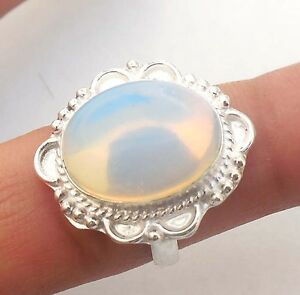 2016-HOT-SALE-JEWELRY-OPALITE-GEMSTONE-925-STERLING-SILVER-PLATED-RING