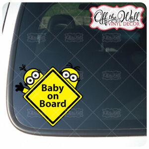 Minions-034-BABY-KIDS-MINIONS-ON-BOARD-Buyers-Choice-Awareness-Warning-Sign