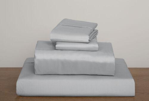Parure de lit king size argent//gris clair solide 1000 tc 100/% coton égyptien