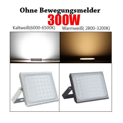 LED Fluter 10W 500W Außen Strahler Scheinwerfer mit Bewegungsmelder UltraDünn