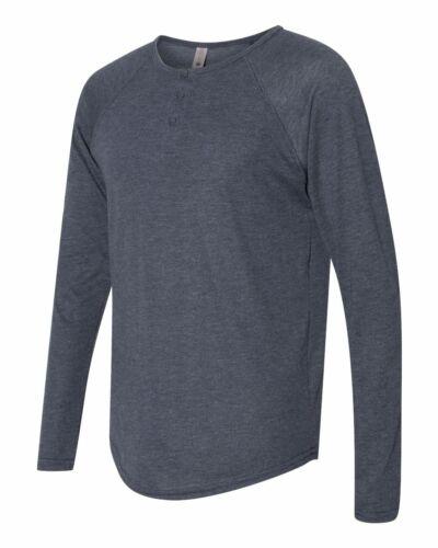 Next Level Men/'s Triblend Long-Sleeve Henley-6072