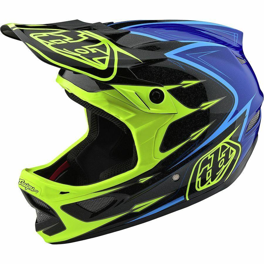 Troy Lee Designs D3 Fiberlite Speedcode Helmet gialloblu LG
