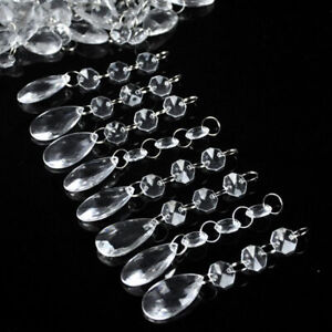 10//30//60PCS Acrylic Crystal Bead Garland Chandelier Hanging Wedding Party Decor