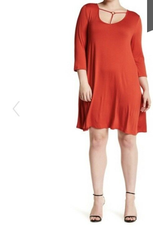 Want & Need Trapeze Dress SZ 3X NWT