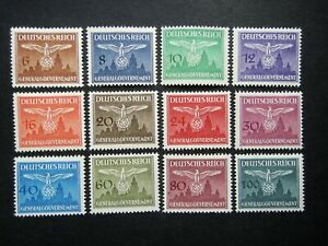 Germany Nazi 1943 Stamps MINT Swastika Eagle Generalgouvernement WWII Third Reic