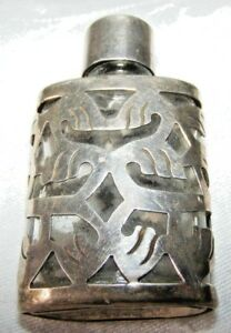 VINTAGE-STERLING-SILVER-1977-ARI-NORMAN-PERFUME-BOTTLE-FULL-HALLMARKS