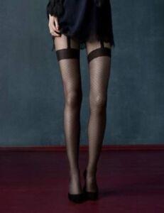 Collants noirs à motifs effet bas   jarretelles Fiore Charleston ... b81b9ee7f54