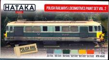 Hataka Hobby Paints POLISH RAILWAYS LOCOMOTIVES SET 2 Acrylic Paint Set