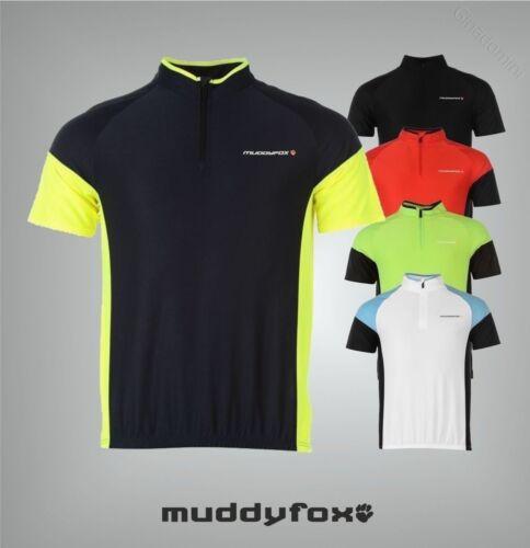 Homme de marque muddyfox respirant à manches courtes vélo haut en jersey taille S-XXXXL