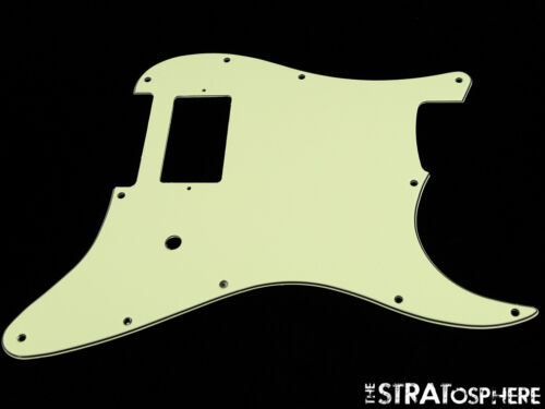 *NEW Mint Green 1H Stratocaster PICKGUARD for Fender Delonge Strat 3Ply Standard