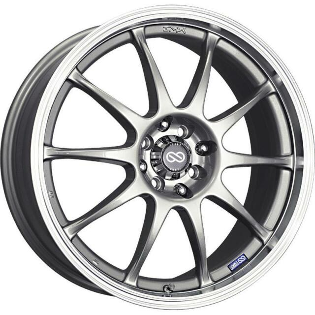 17x7 Enkei J10 5x100114 3 38 Silver Rims Fits Type R Civic Mr2 For