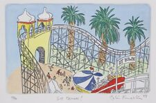 Peter KINGSTON Sit Down! LUNA PARK-  LIMITED EDITION original ETCHING signed