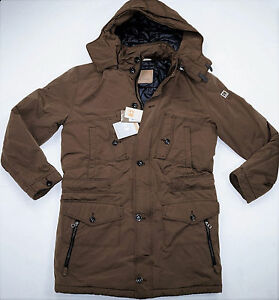 hugo boss parka oscott w thermo winter jacket size 50 52 54 mens brown jacket ebay. Black Bedroom Furniture Sets. Home Design Ideas