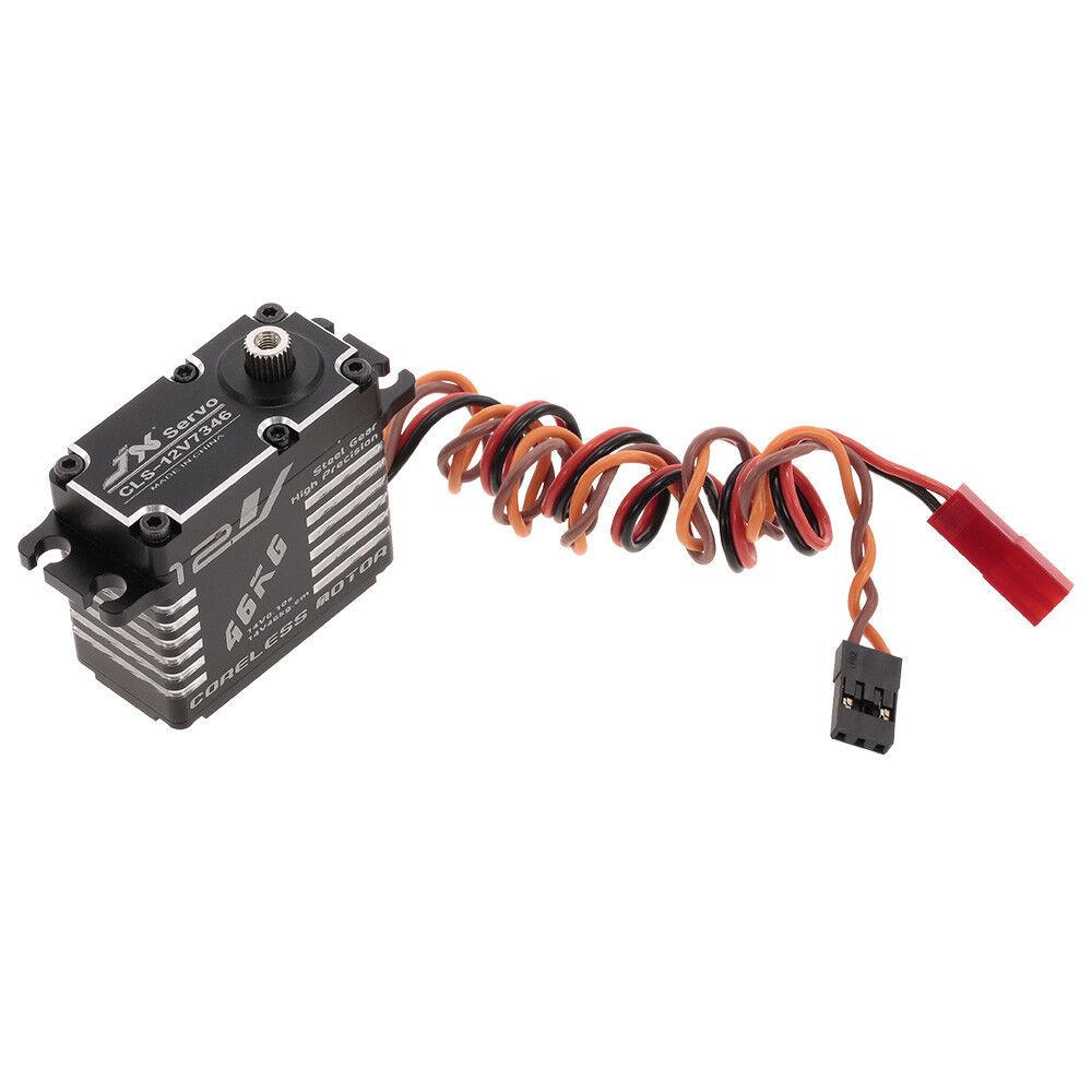 JX CLS-12V7346 46KG 12V Aluminium Digital Coreless Servo for RC Car L5K9