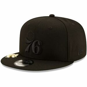 Philadelphia-76ers-New-Era-Black-on-Black-Metal-Duel-9FIFTY-Snapback-Hat-Black