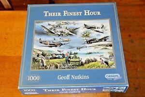 Gibsons 1000 Piece Jigsaw Puzzle Their Finest Hour G831 Spitfire Hurricane WW2