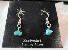 Sterling Silver Turquoise Artisan Crafted Earring Set - Certificate of Authentic