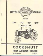 Cockshutt Service Manual 20 30 40 50 Tractors Coop E2 E3 E4 E5 Gambles 30