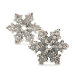 Image Is Loading Authentic Trollbead Earrings Snow Star Silver Tagea 20009