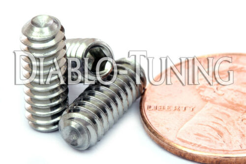 """#10-24 x 1//2/"""" Qty 10-18-8 Stainless Steel SOCKET SET GRUB SCREWS Cup Point"""