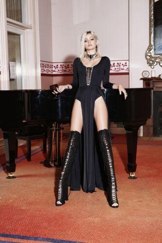 Black milk clothing vamp maxi dress XL